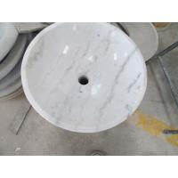 China guangxi white marbe bathroom round sink stone wash basin for sale
