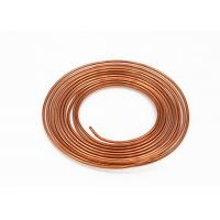 China Heat Exchanger Copper Pancake Coil Extruded 0.35 - 0.9mm Wall Thickness on sale