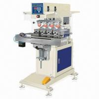 Quality Automatic 4-color Shuttle Tampo Printing Machine with 100 x 150mm Metallic Plate for sale