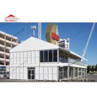 Buy cheap A Shape Double Decker Tent Prefabricated House With Strong Galvanized Steel Pole from wholesalers