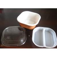 China 850ml Plastic Square Take Away Tray Disposable Food Packaging on sale