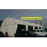 China Light Weight Cover Polygon Tent 15m x 20m White PVC Roof Mesh Window on sale