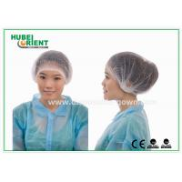 """Buy cheap Single Use Nonwoven Mob Cap 21"""" 10gsm Double Elastic White Blue Green from wholesalers"""