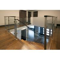 Quality Deck Glass Railing/ Balcony Glass Balustrade Interior Staircase Railing Design for sale