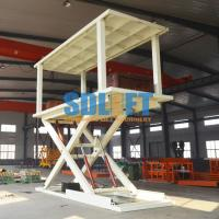 Quality 2T 3m Hydraulic Scissor Type 2 Car Parking Lift form Basement to Ground Level for sale