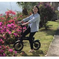 Quality 150KG Loading Capacity Folding Electric Bike LED Lights With 12inch Wheel for sale