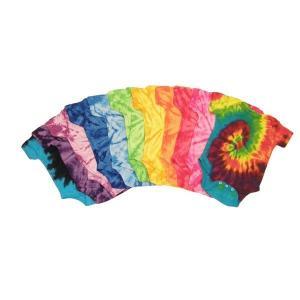 Quality Colorful Cute Newborn Baby Clothes Unique Boutique Baby Tie Dye Romper for sale