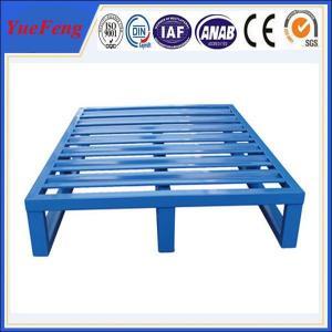 Quality Euro heavy duty aluminum flat pallets manufacturer, aluminium pallet with blue color for sale