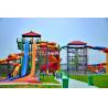 Shandong 100,000 M2 Water Park Fiberglass Water Slide  Water Park Equipment for sale