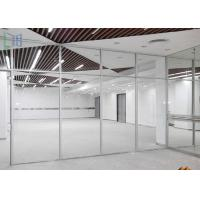 Quality Commercial Division Aluminium Office Partition With Single / Double Glazing Glass for sale
