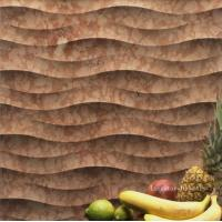 Quality Rosso Verona 3D Natural Stone Art For Interior Walls for sale