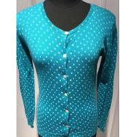 Quality Spot Cardigan Sweaters For Women , Ladies Cardigan Sweaters Round Neck 14gg for sale