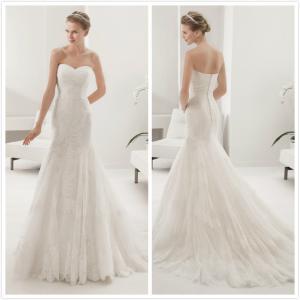 Quality Strapless Lace W wedding dress #8B149 for sale