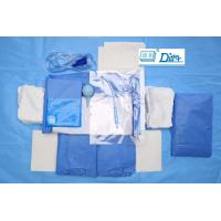 Quality Breathable SMMS Disposable Surgical Packs , EO Sterile C Section Drape for sale