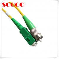 China 3m Optical Fiber Patch Cord 2m SM Simplex SC/APC FC/APC For Telecommucation on sale