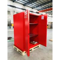 Quality Red Flammable Combustible Storage Cabinets Two Vents Single Door 45 gallon for sale