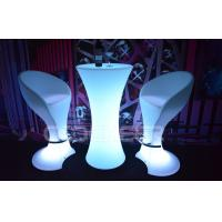 Quality Multi color Waterproof led bar stools and tables Illuminated Bar Furniture With Lights for sale