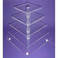 Quality Eco-Friendly 5-Tier Acrylic Bakery Display Case For Cupcake , Cookie for sale