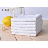 Quality White Cotton Washcloths 100% Long Stapled Luxury Face Flannels for sale