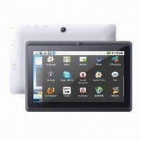 China Low End 7-inch MIDs/Tablet PCs, AllWinner A13 Cortex A8 CPU, Android 4.0 OS/512MB/4G/Wi-Fi/3D Games on sale