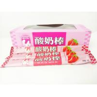 Quality Strawberry Flavor Yogurt Sticks Candy / Fruit Chewy Candy Sweet And Sour for sale