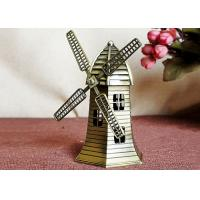 China Miniature World Famous Building Model , Brass Dutch Windmill Replica on sale