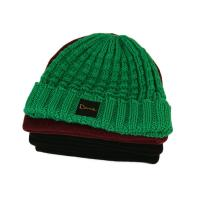 Quality Popular unisex warm all colors customize woven label winter knitted boonies hats for sale
