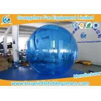Quality Blue 0.7mm TPU Floating Water Ball Walk On Water Balls , Human Water Walking Ball for sale