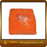 Quality promotional orange color cotton sweatband for sale