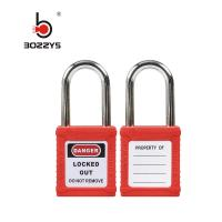 Quality Steel Shackle Nylon Body Safety Padlock with keyed alike for sale