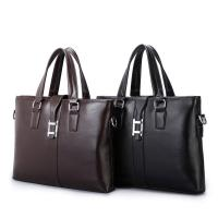 Quality PU Casual Business Brown Leather Laptop Bag , Travel Messenger Women'S Work Bags Briefcases for sale