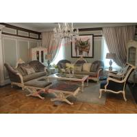 Quality French-type Furniture made by Wooden Carving Frame with Upholstery Sofa Set for sale
