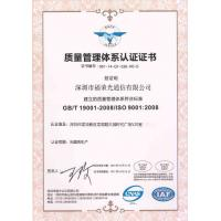 SHENZHEN FURONG FIBER OPTIC CABLE CO.,LTD Certifications