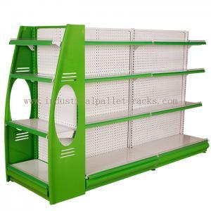 China Stores Supermarket Shelves Commercial Storage Rack Green / Grey / Orange / Pink / Blue on sale