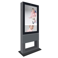"Quality 55"" 4000cd/m2 IP65 2500 Nits Free Standing Digital Signage for sale"