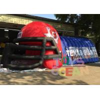 Buy Outdoor Advertising Blue N Red Inflatable Football Helmet Tunnel For Sport Event at wholesale prices