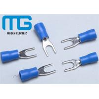 Quality SV 1.25-4 copper Insulated spade female terminals Fork-shaped Cable end terminals for sale