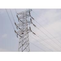 China Four - Leg Steel Transmission Tower 10KV - 1000KV Voltage With Connection Bolts on sale