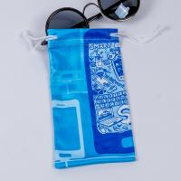 Quality Small Microfiber Drawstring Eyeglass Pouch , Cloth Sunglasses Pouch Carrying Bags for sale