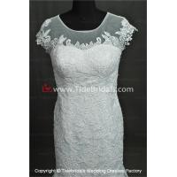 Quality NEW!! Mermaid wedding dress cape sleeves evening Bridal gown #AL503 for sale