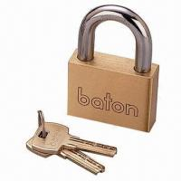 Quality Hardened Brass Padlocks with 1 Row Pin for sale