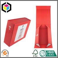 Buy cheap Red Color Matte Laminated Paper Gift Box; Easy Setup Collapsible Gift Box from wholesalers