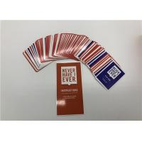 Buy cheap Funniest Party Game Never Have I Ever Card Game With Different Size 1kg  from wholesalers