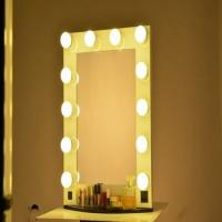 Quality Makeup Vertical Hollywood Light Up Mirror With Dimmer And 12 LED Bulbs Lights for sale