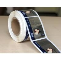 Quality Custom Printed Chrome Bopp Labels , Adhesive Material Bopp Sticker for sale