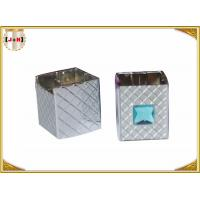 Quality Distinct Twist Off Zinc Alloy Perfume Bottle Caps Gunmetal Square Shape for sale