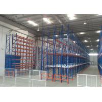 Buy Multi tier CE Certificate Storage Racking Systems Dark Bule / Orange Red at wholesale prices