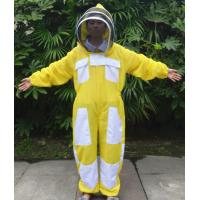 Quality Yellow Color New Type Three Layer Ventilated Beekeeping Protective Clothing for sale