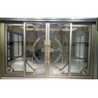Quality Leaded glass in  aluminum sliding door for sale
