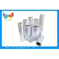 Quality 40 / 45mic Transparent Blown PVC / Cast PETG Shrink Film For Bottle Shrink Label for sale